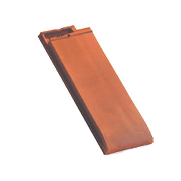 Accessoire terre cuite d'EDILIANS : 1/2 tuile de finition HP 10 Flammé rustique