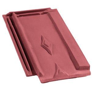 Accessoire terre cuite d'EDILIANS : Tuile de finition droite LOSANGEE Ste Foy Rouge