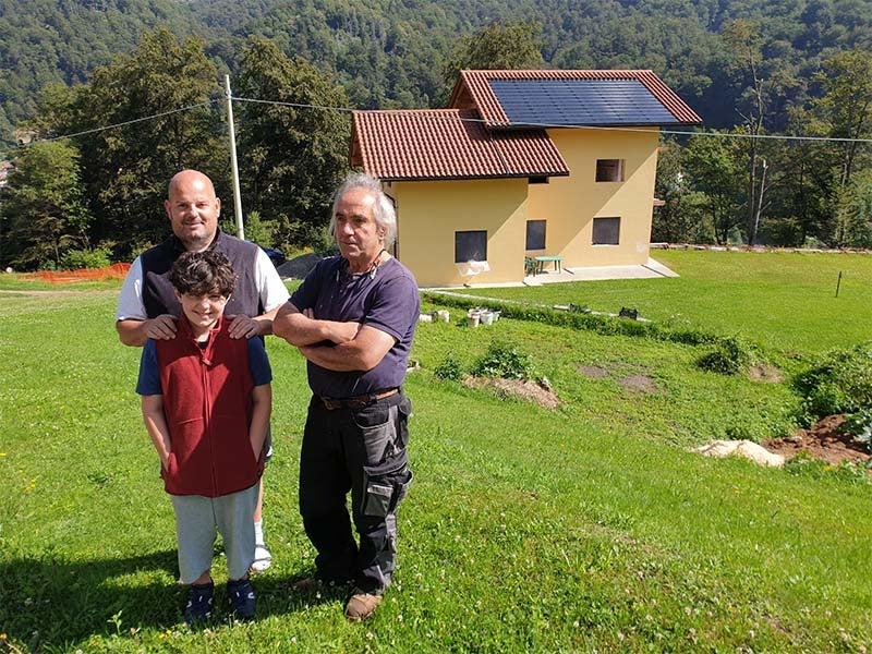 le tre generazioni, il padre GuianGuido , Andrea e suo figlio Claus.